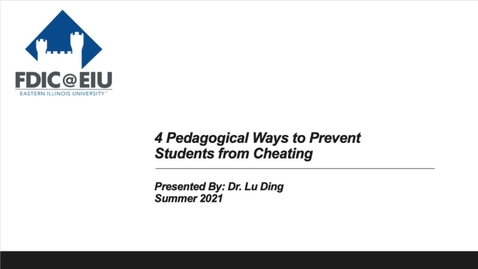 Thumbnail for entry 4 Pedagogical Ways to Prevent Students from Cheating