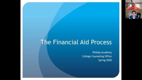 Thumbnail for entry Financial Aid Virtual Spring Meeting