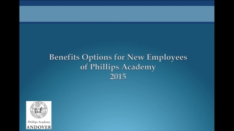 Thumbnail for entry Benefits Overview