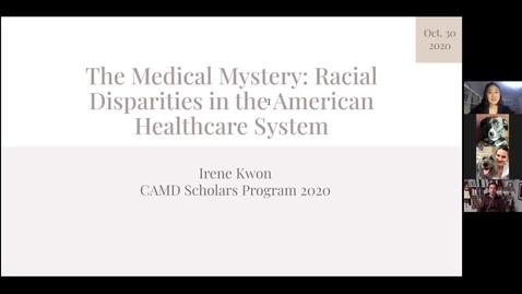 Thumbnail for entry CAMD Scholar Presentation - Irene Kwon