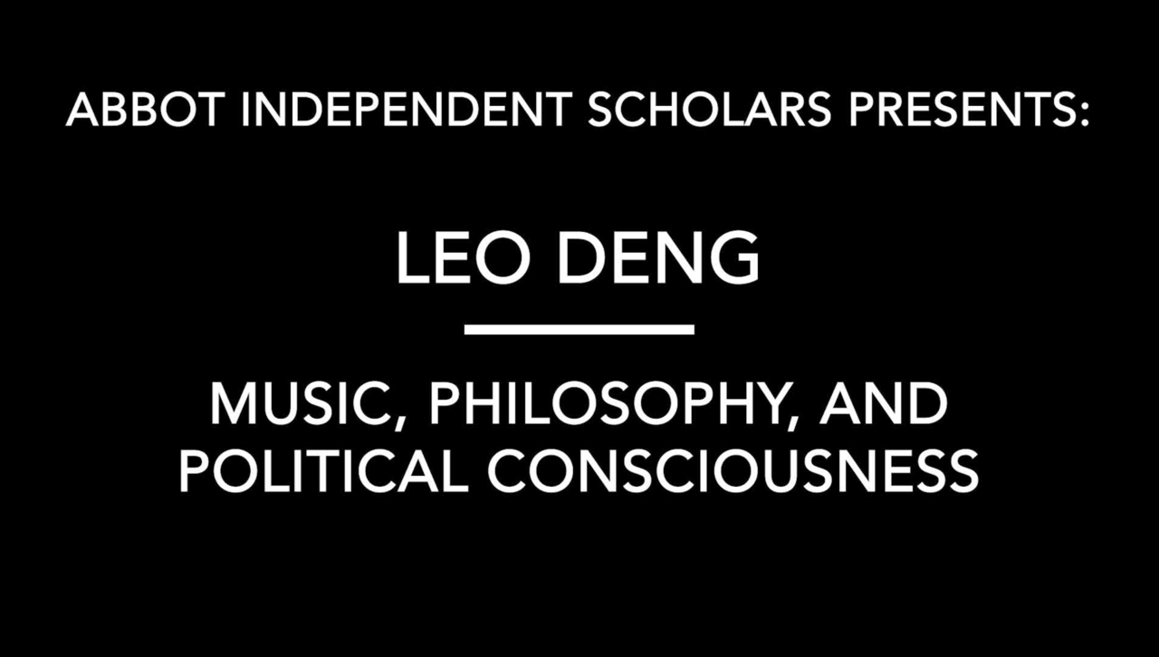Music, Philosophy, Political Consciousness by Leo Deng