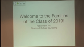 Thumbnail for entry Intro to College Counseling for Parents of 9th Graders