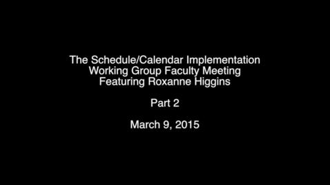 Thumbnail for entry Roxanne Higgins Part 2
