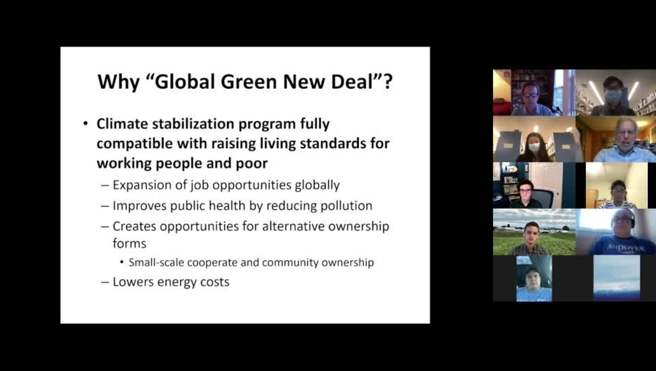 Climate Cafe with Robert Pollin
