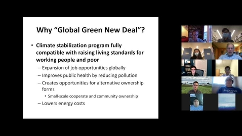 Thumbnail for entry Climate Cafe with Robert Pollin
