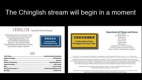 Thumbnail for entry Chinglish, May 31st show