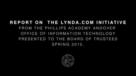 Thumbnail for entry OIT Report on Lynda.com
