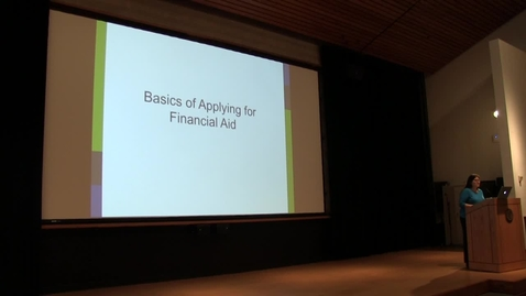 Thumbnail for entry Financial Aid Fall Focus Meeting