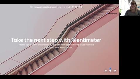 Thumbnail for entry Online Workshop Next step with Mentimeter 11 februari 2021