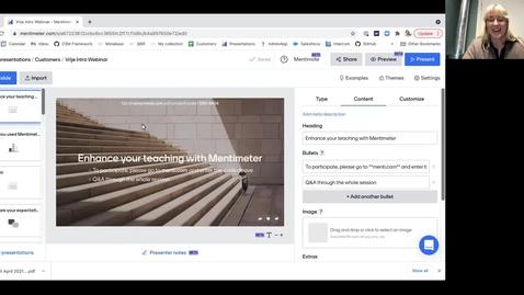 Thumbnail for entry Online workshop Introduction Mentimeter