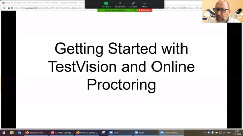 Thumbnail for entry Get Started with TestVision and Online Proctoring