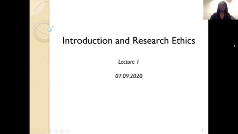 Thumbnail for entry Advanced Research Methods 2021 Lecture 1