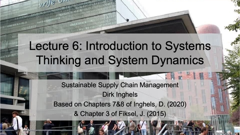 Thumbnail for entry SSCM 2020_L6 Systems Thinking