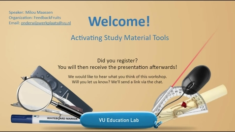 Thumbnail for entry Activating Study Material Tools