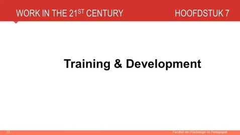 Thumbnail for entry Hoofdstuk 7: Training en development