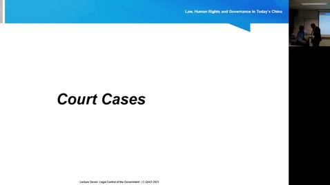 Thumbnail for entry Lecture 7.2: Legal Control of the Government