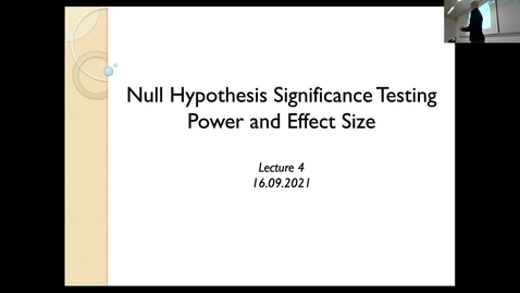 Thumbnail for entry Advanced Research Methods 2001 Lecture 4