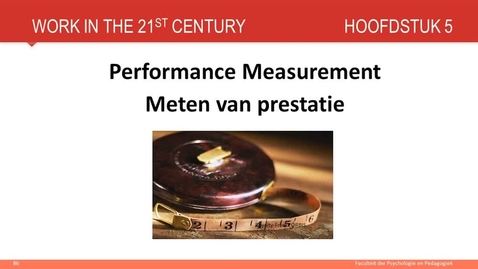 Hoofdstuk 5: Performance management