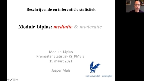 Thumbnail for entry 14.2 (plus). Stappenplan mediatie-analyse (met regressie)