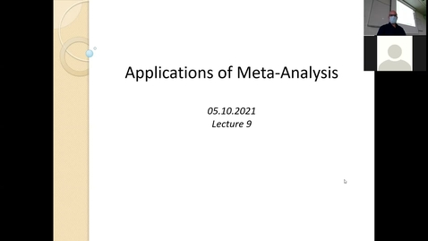 Thumbnail for entry Advanced Research Methods 2021 Lecture 9