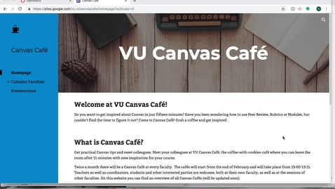 Thumbnail for entry Canvas Café: Course Navigation Menu