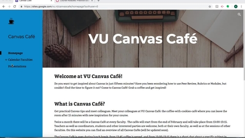 Thumbnail for entry Canvas Café: Modules