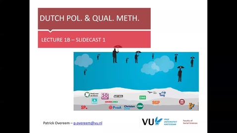 Thumbnail for entry DPQM 2020 - lecture 1b slidecast 1 - After Lijphart (Overeem)