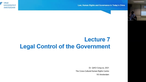 Thumbnail for entry Lecture 7.1: Legal Control of the Government