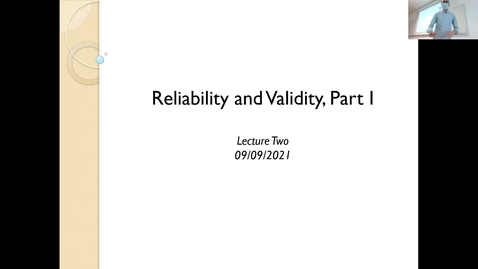 Thumbnail for entry Advanced Research Methods 2001 Lecture 2