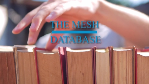 Thumbnail for entry The MeSH Database in PubMed