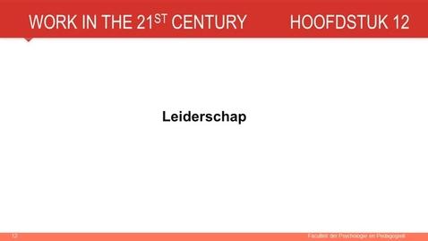 Hoofdstuk 12: Leiderschap