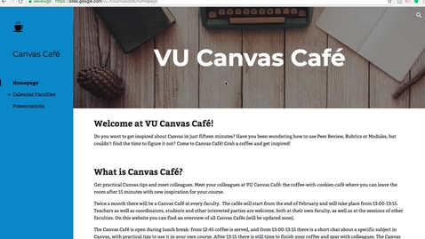 Thumbnail for entry Canvas Café: Peer review