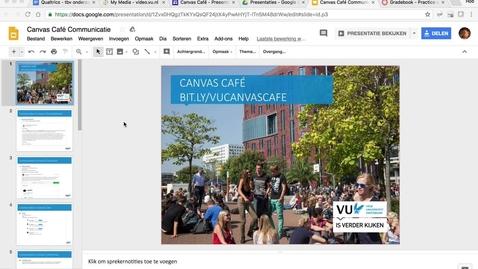 Thumbnail for entry Canvas Café: Communicatie met studenten
