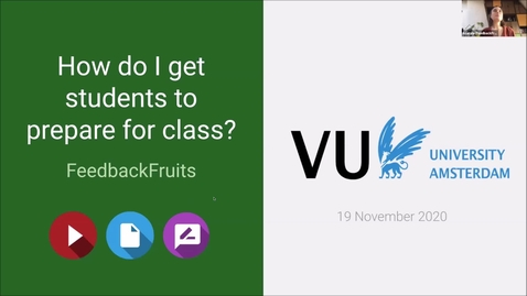 Thumbnail for entry Webinar: How to get students to prepare for class?