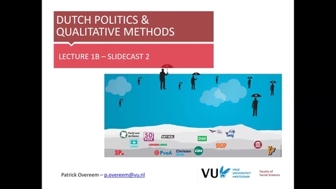 Thumbnail for entry DPQM 2020 - lecture 1b slidecast 2 - Dutch politics in the international context (Overeem)