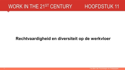 Thumbnail for entry Hoofdstuk 11: Rechtvaardigheid en diversiteit