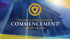 Thumbnail for entry Undergraduate Commencement August 18, 2018