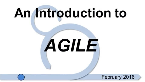 Thumbnail for entry Introduction to the Agile Process