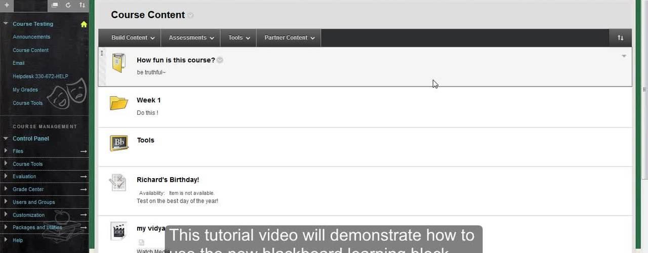 Blackboard Learning Block Tutorial