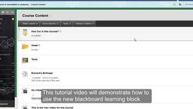 Thumbnail for entry Blackboard Learning Block Tutorial