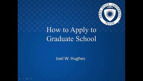 Thumbnail for entry Grad School week 12