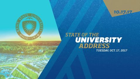 Thumbnail for entry State of the University 2017, October 17, 2017