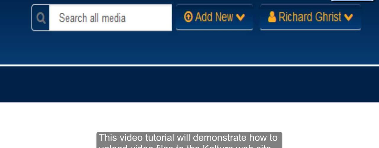 Upload Media Tutorial