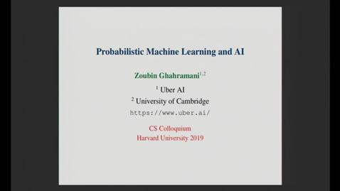 Thumbnail for entry CS Colloquium Zoubin Ghahramani 2019-10-17