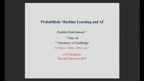 Thumbnail for entry CS Colloquium Zoubin Ghahramani 2019-10-17