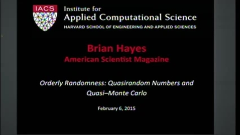Thumbnail for entry IACS Seminar Brian Hayes 2015-02-06