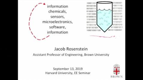Thumbnail for entry EE Seminar Jacob Rosenstein 2019-09-13