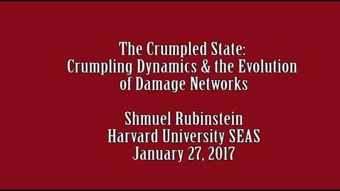 Thumbnail for entry Shmuel Rubinstein 1 27 2017
