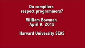 Thumbnail for entry CS Colloquium William Bowman 2018-04-09