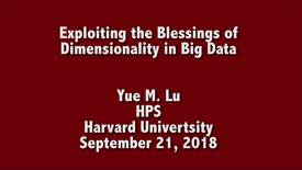Thumbnail for entry EE Seminar Yue M. Lu 2018-09-21